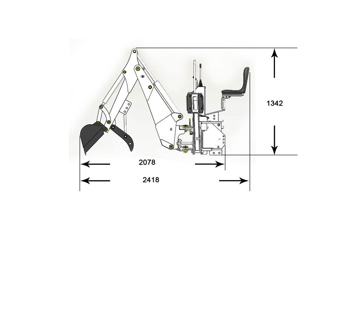 Bowell Tractor Europe Backhoe Bh 6 Excavator Schematic Stay Mounted To Your When You Drive On Public Roads As It Does Not Cover Any Lights And The Hydraulic Stabilizers Give Very Compact