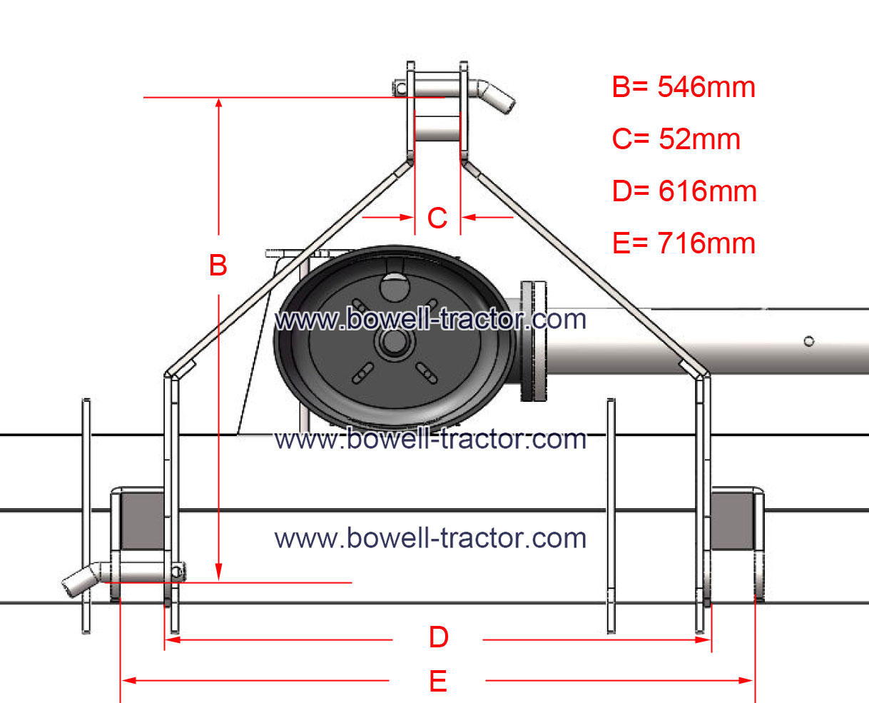 Dimensions point 0 category 3 hitch Three point
