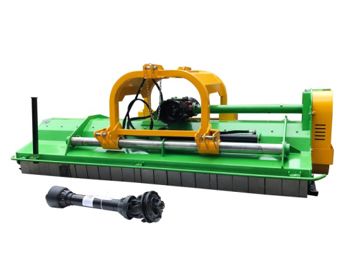 Bowell BCX professional front/rear Flail Mower - 1000 RPM - hydraulic side shift - 1400gr. flail hammer - 260cm to 310cm working width